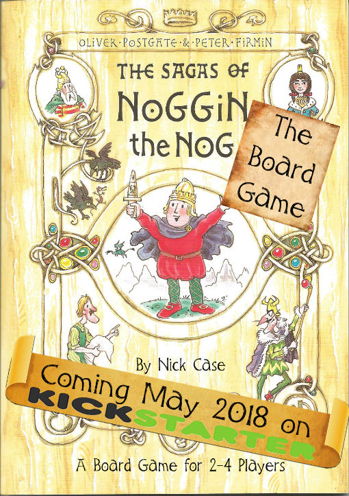 Tales of the Northlands, The Sagas of Noggin the Nog board game poster 2018